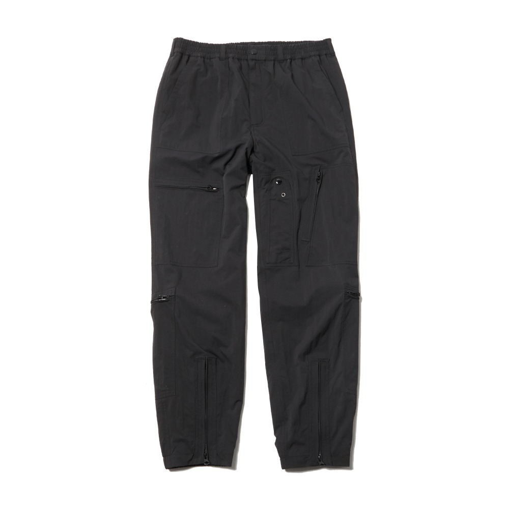 Nylon Parachute Pants - Black