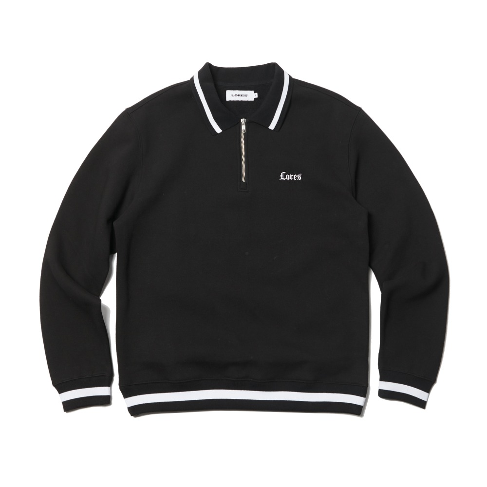 O.E Collar Crewneck - Black