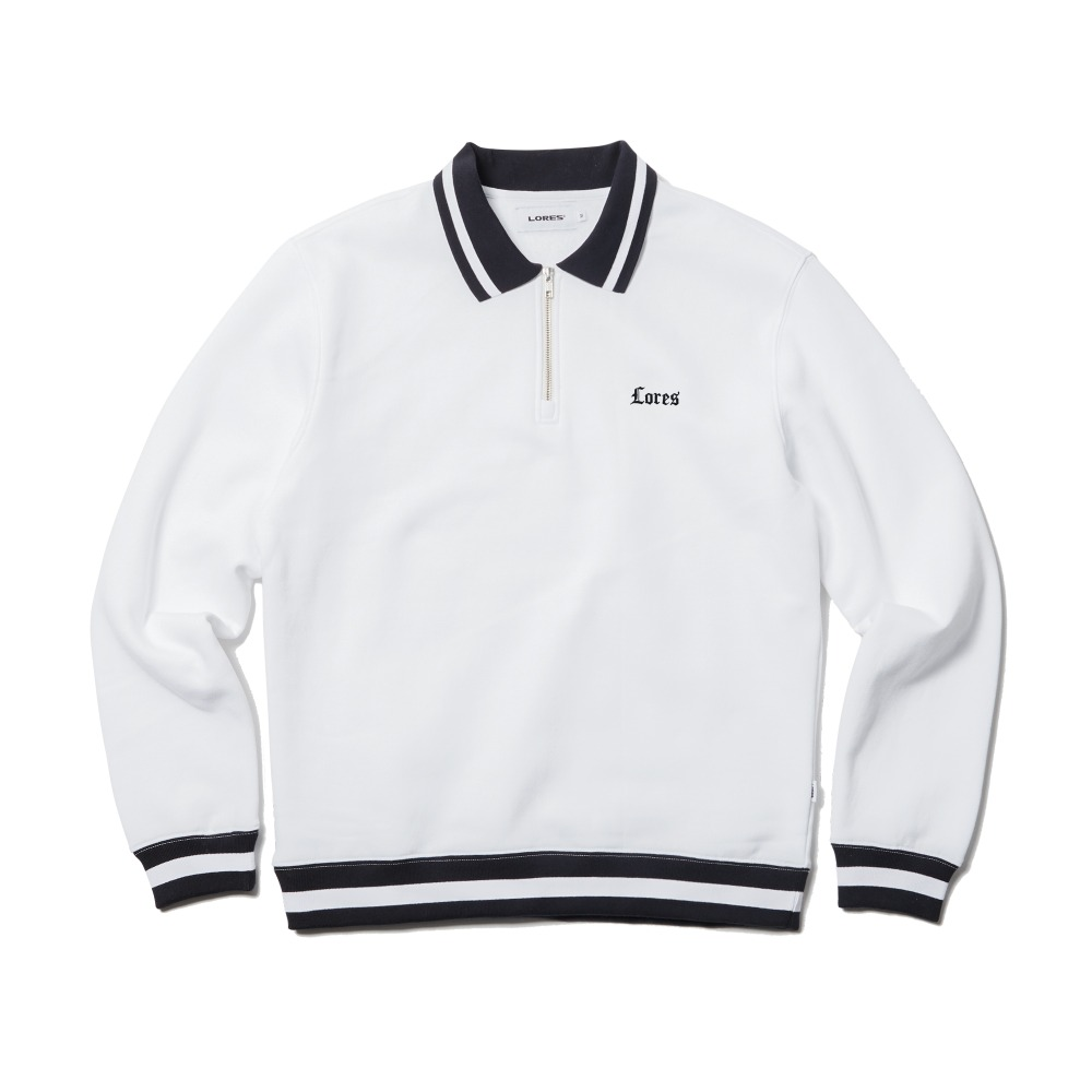O.E Collar Crewneck - White