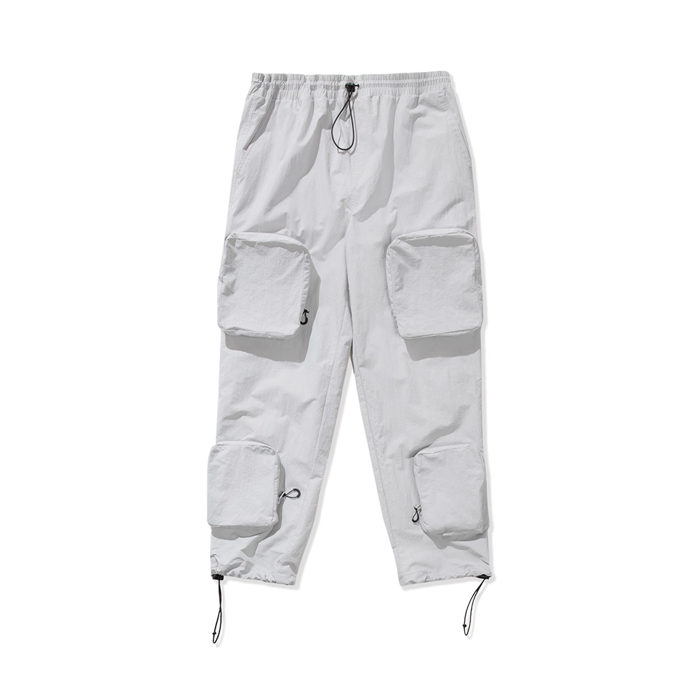 Utility Cargo Pants - Light Grey
