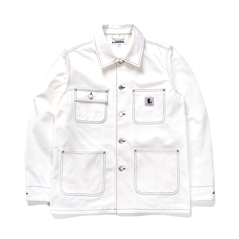 Canvas Chore Jacket - White