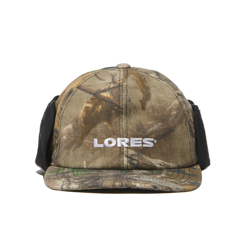 Logo Earflap Mask Cap - Real Tree Camo