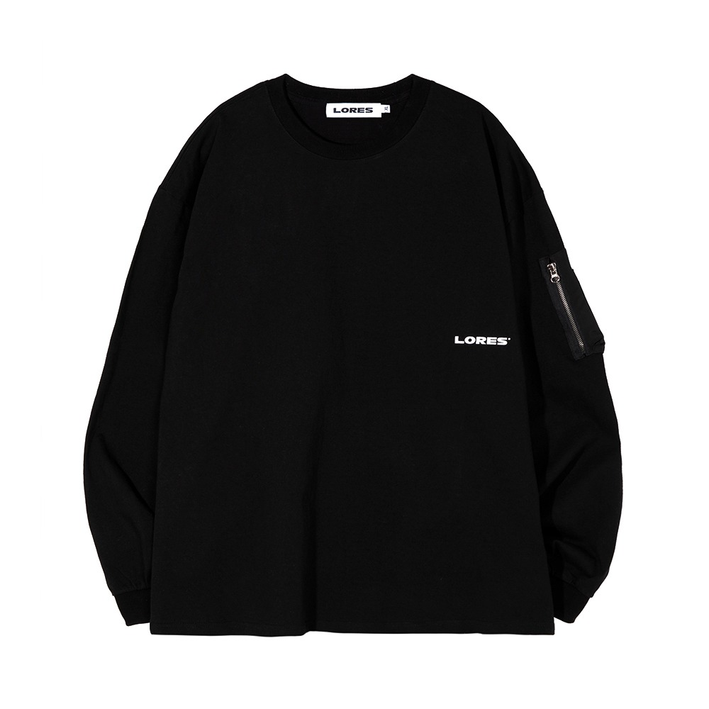Arm Pocket L/S Tee - Black
