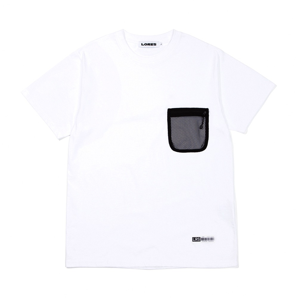 Mesh Pocket S/S T-Shirts - White
