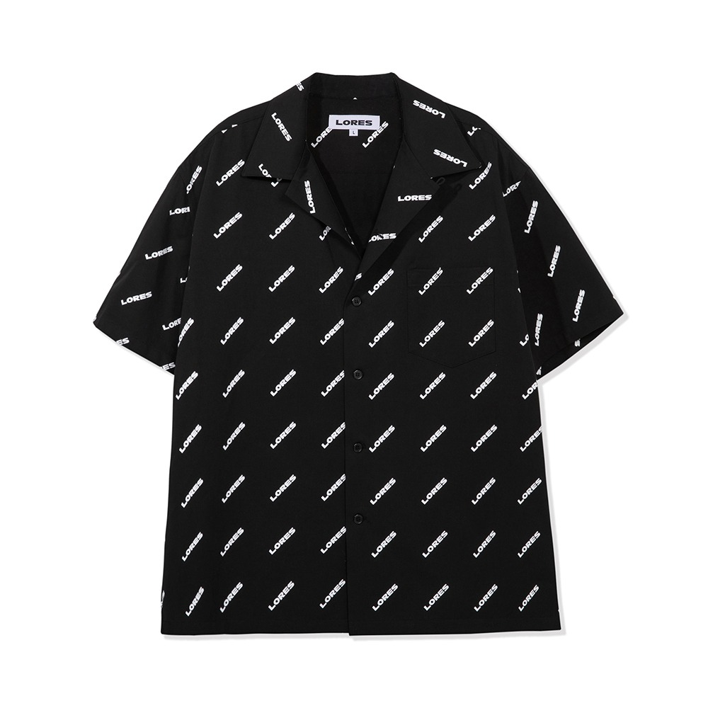 Logo Pattern Shirts - Black