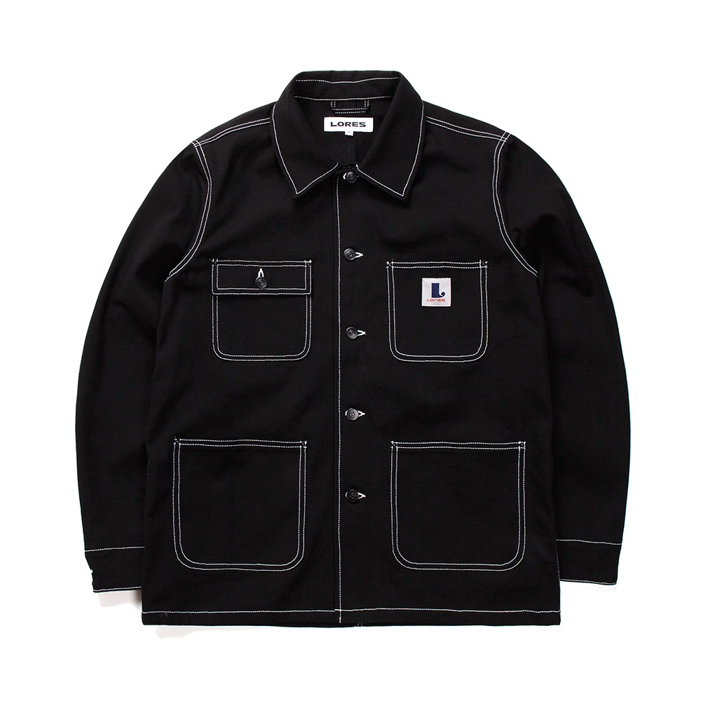 Canvas Chore Jacket - Black