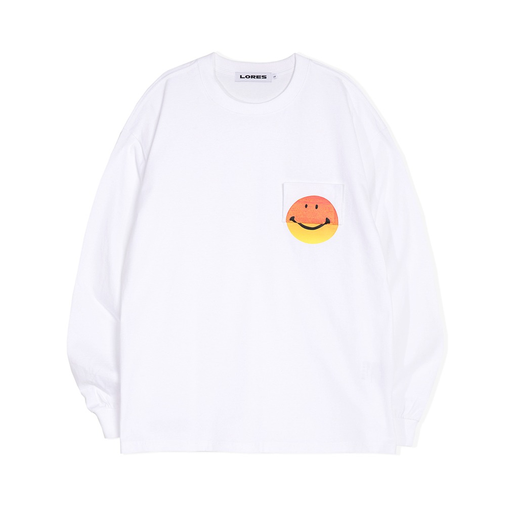 Smile Pocket L/S Tee - Black