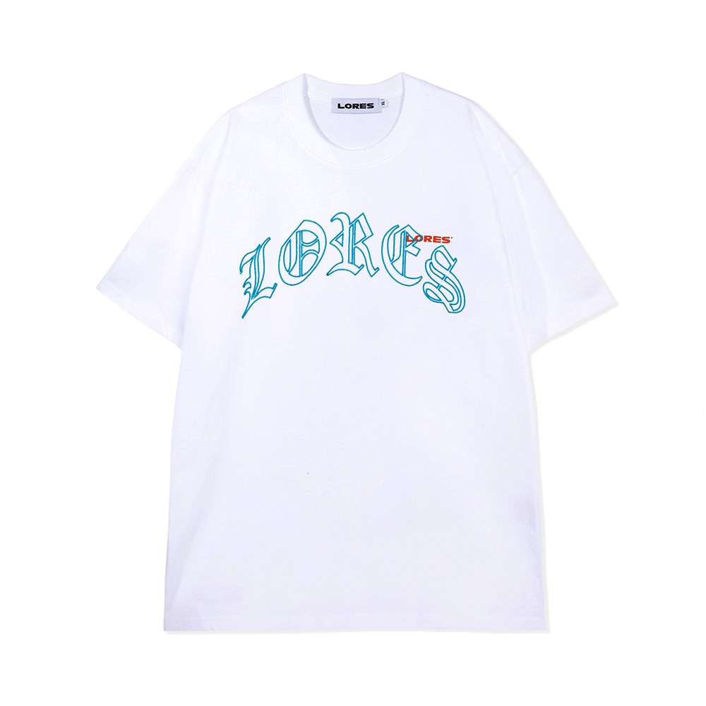 Old English Arch S/S Tee - White