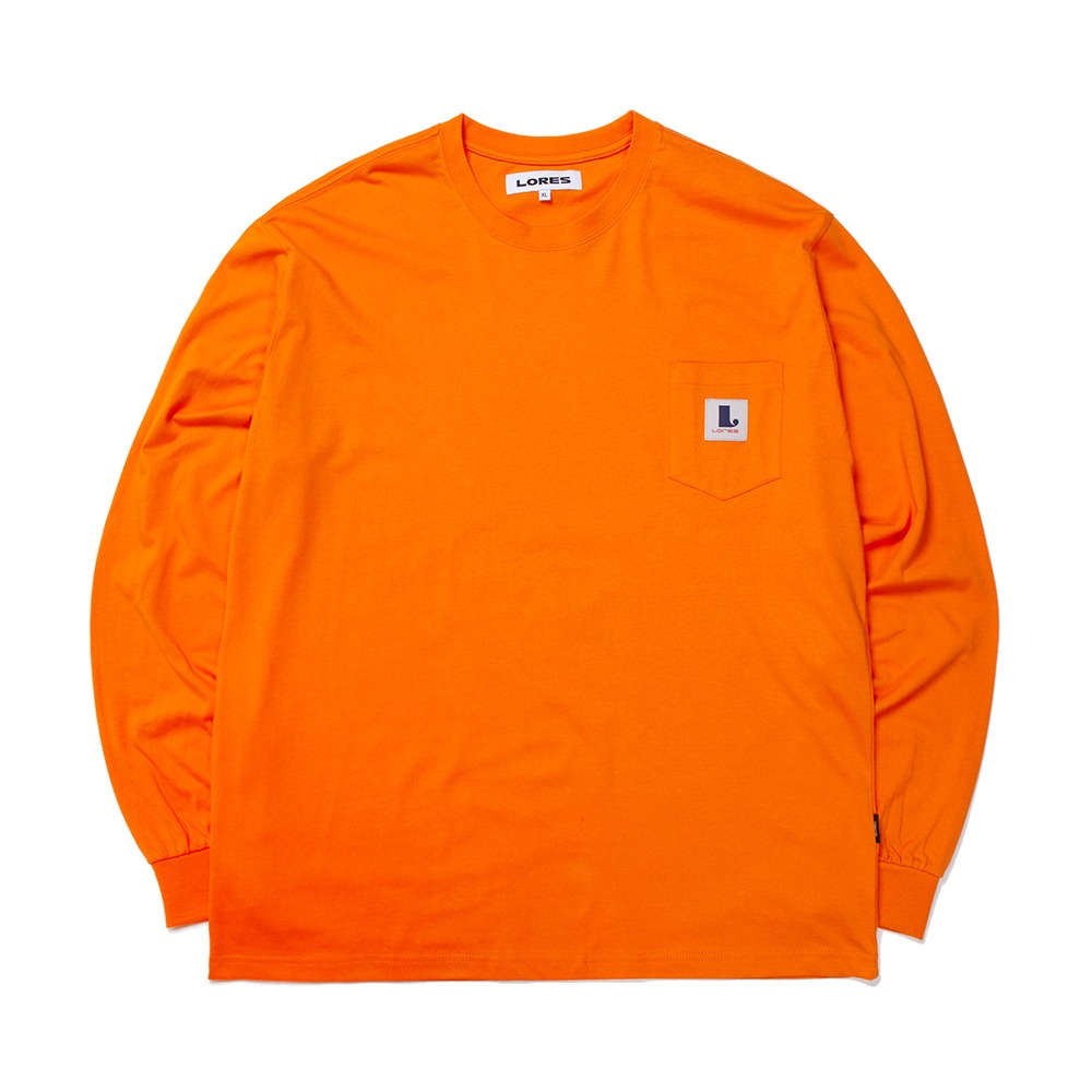 Pocket L/S T-shirts - Orange