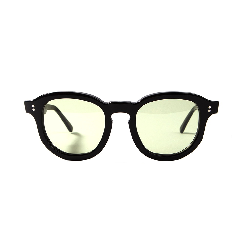 Hawk Sunglasses - Black/LIght Green