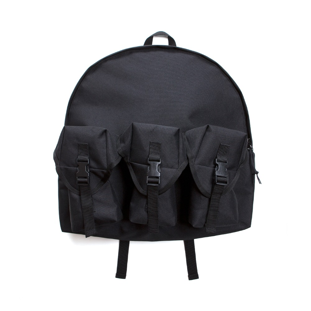 3 Pocket Backpack - Black