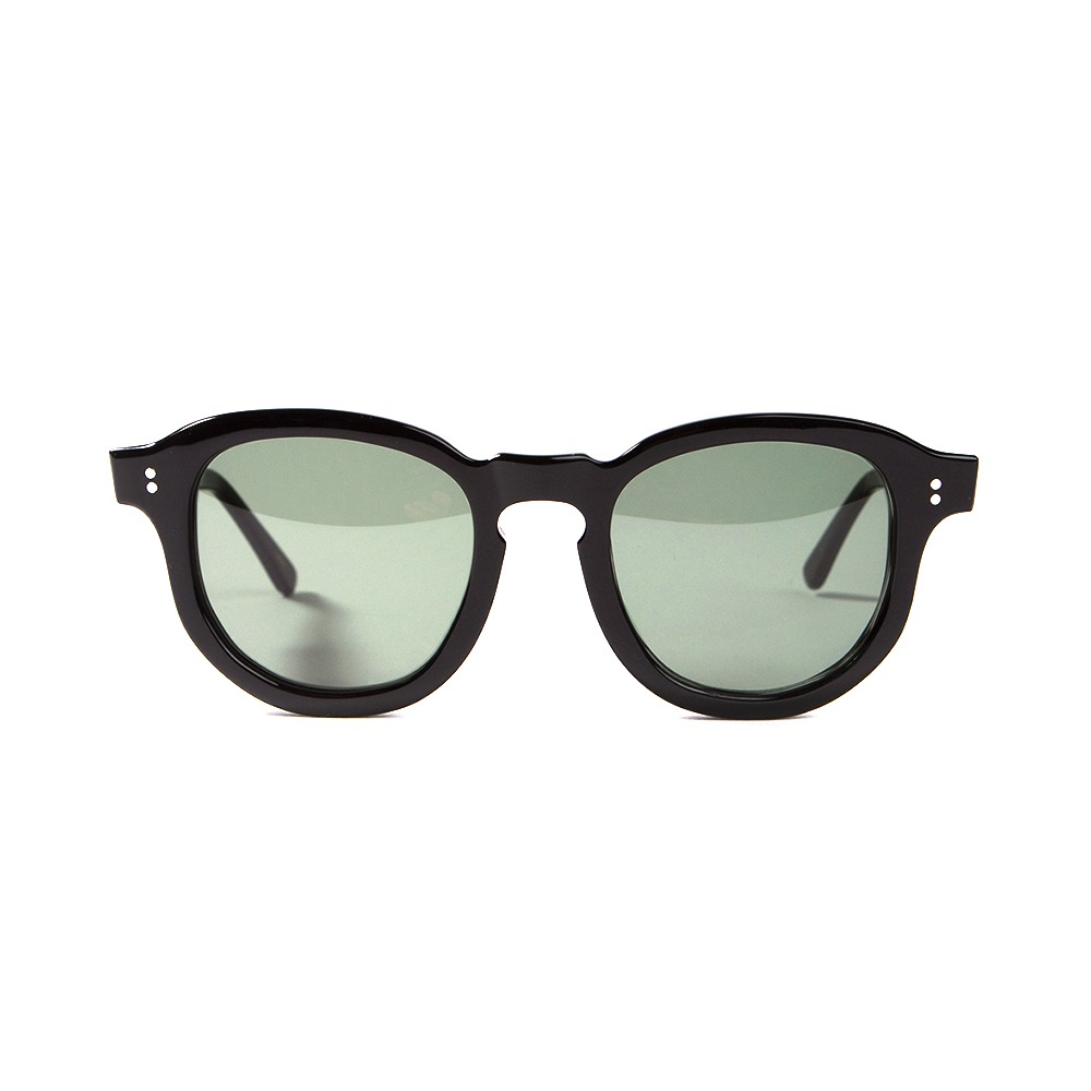 Hawk Sunglasses - Black/Dark Green