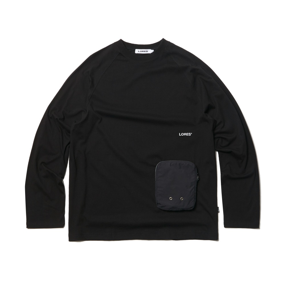 Zip Pocket L/S Tee - Black