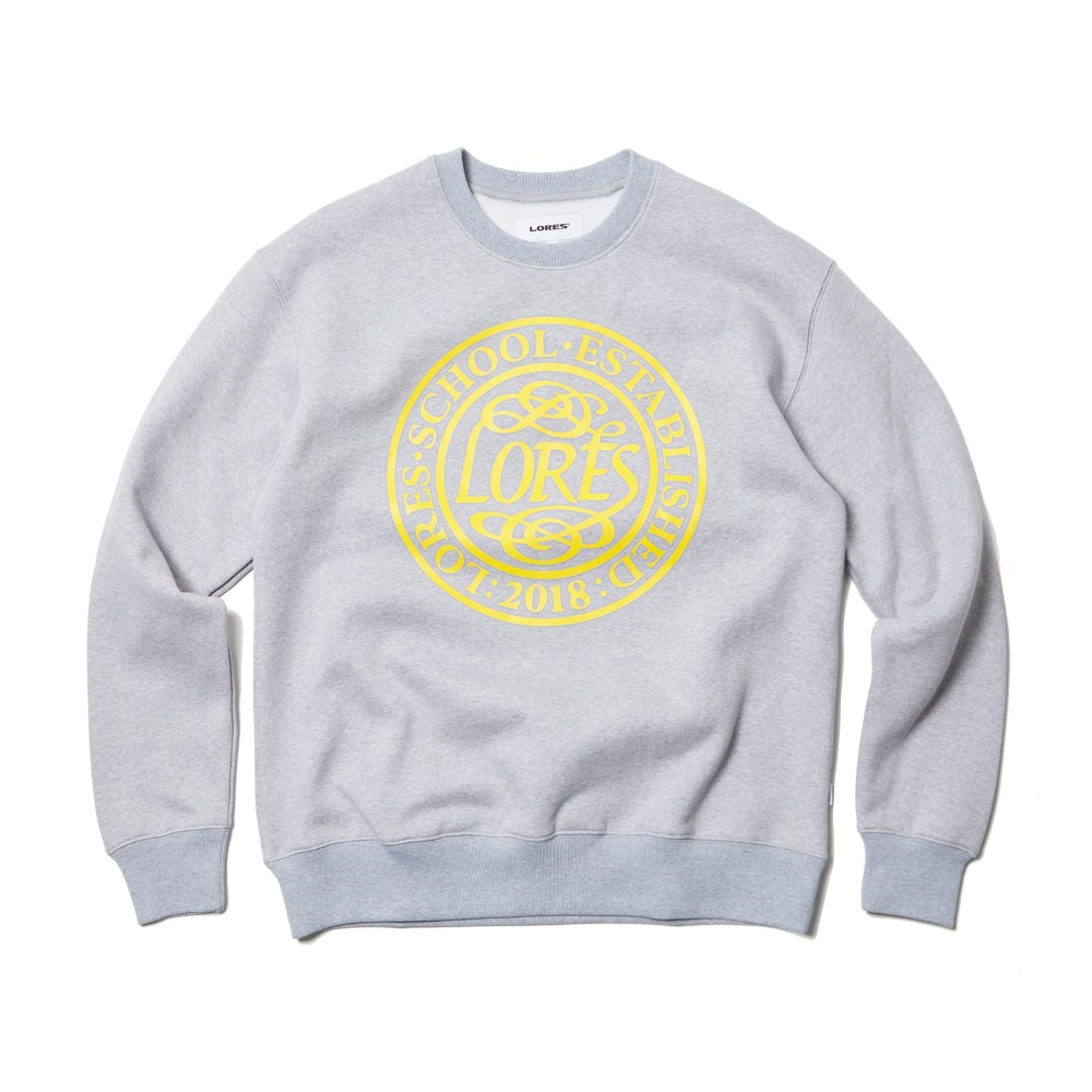 College School Crewneck - Heather Grey
