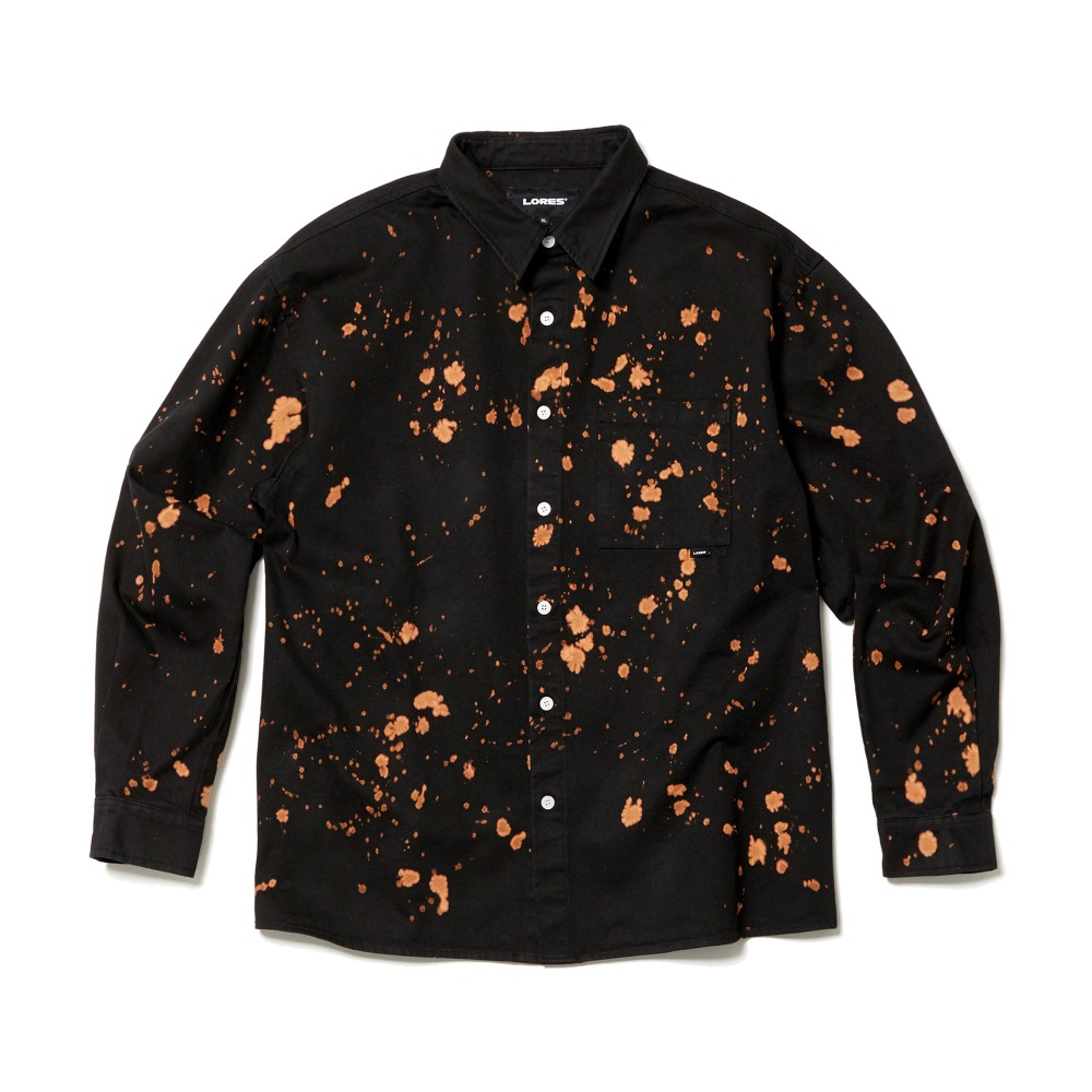 Cotton Bleached Shirts - Black