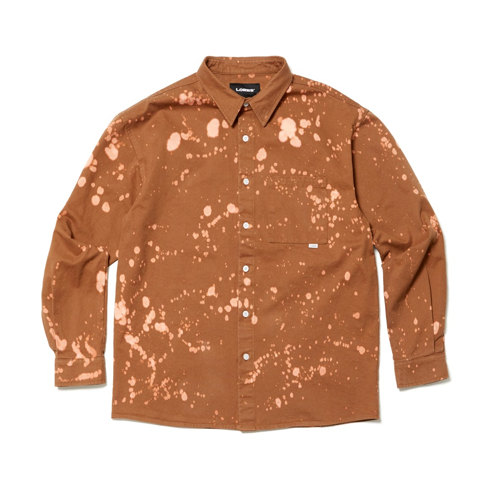 Cotton Bleached Shirts - Brown