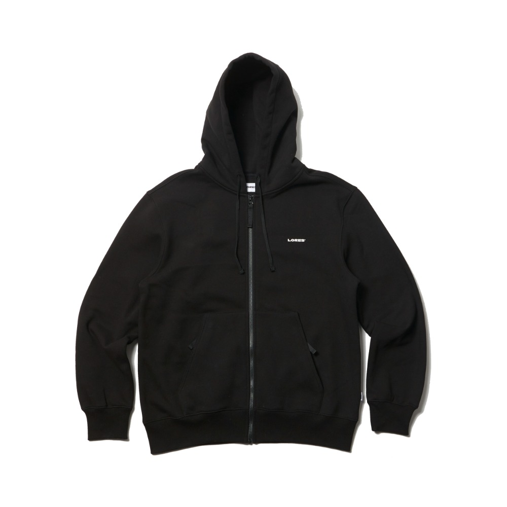 Logo Zip-Up Hoodie - Black