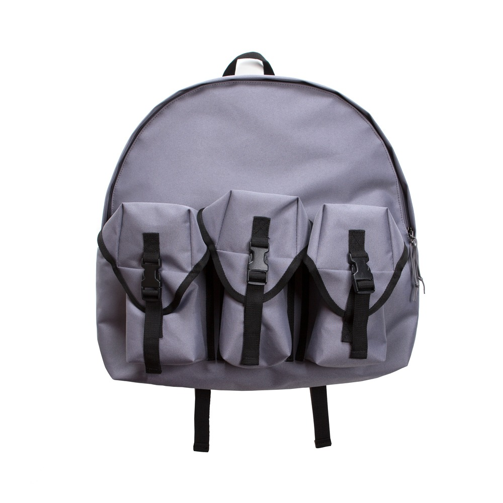 3 Pocket Backpack - Charcoal Grey