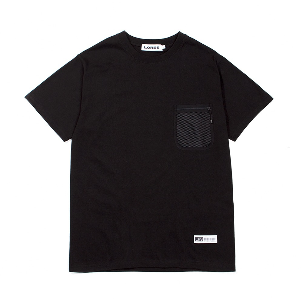 Mesh Pocket S/S T-Shirts - Black
