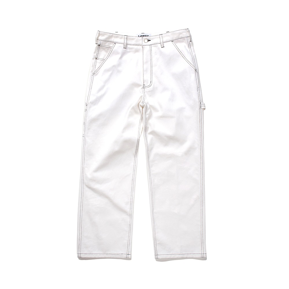 Canvas Painters Pants - White