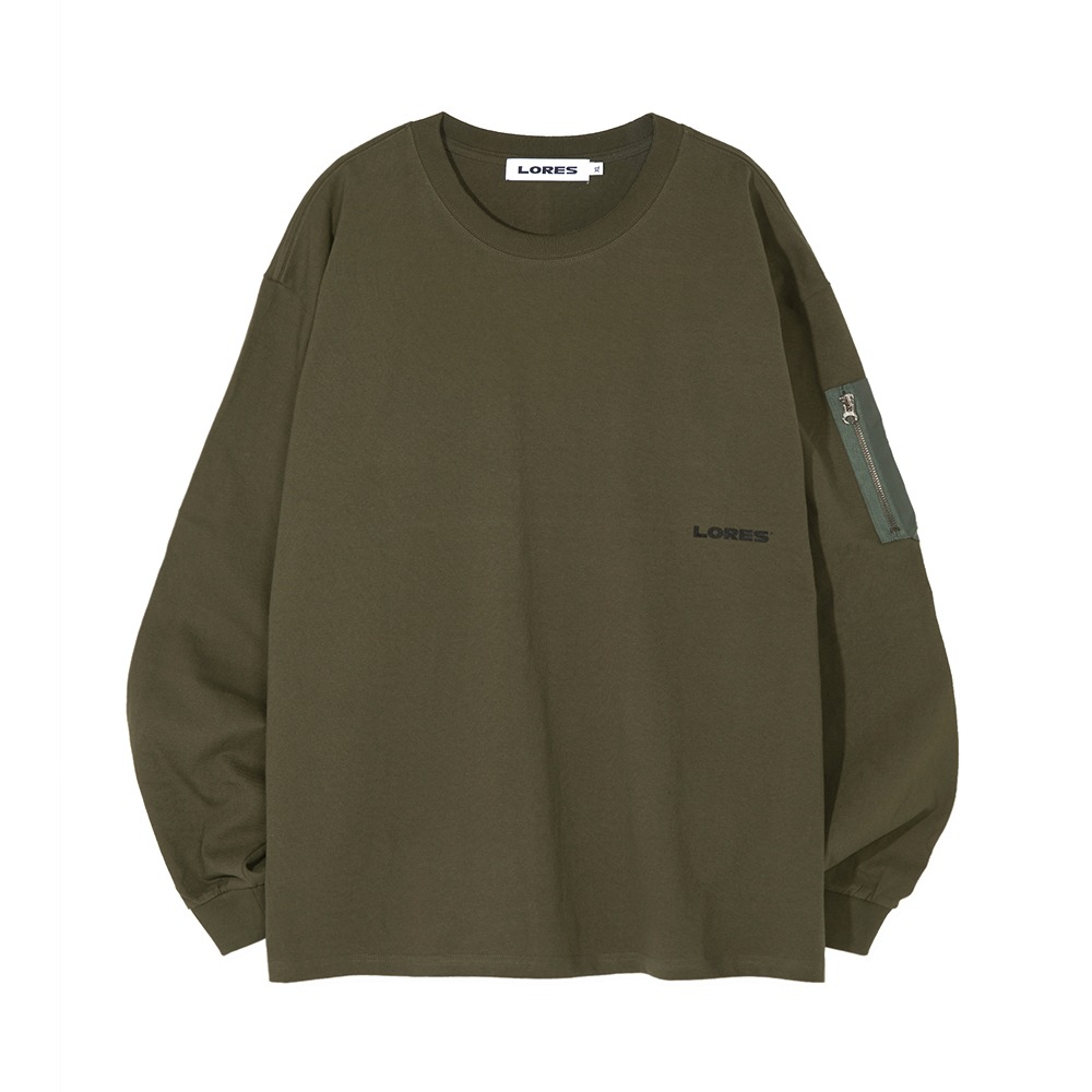 Arm Pocket L/S Tee - Olive