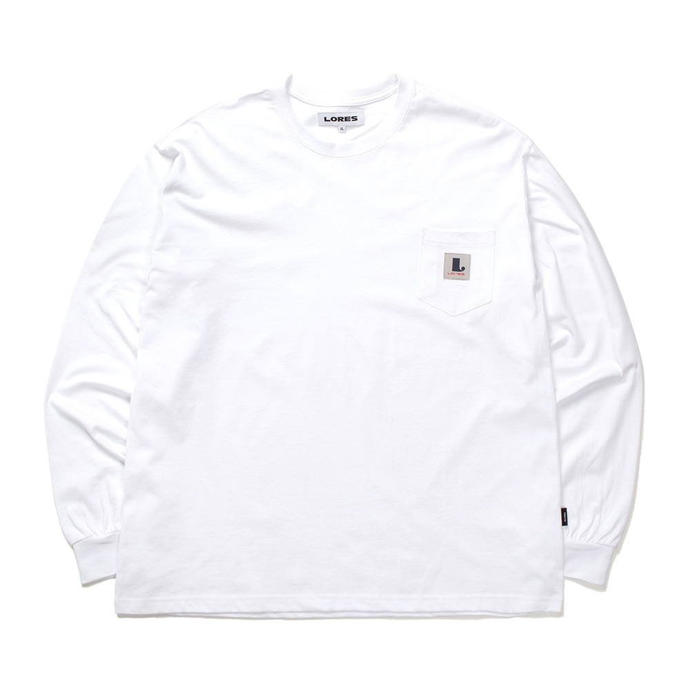 Pocket L/S T-shirts - White